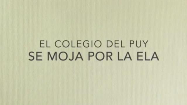 El Colegio del Puy se moja por la ELA