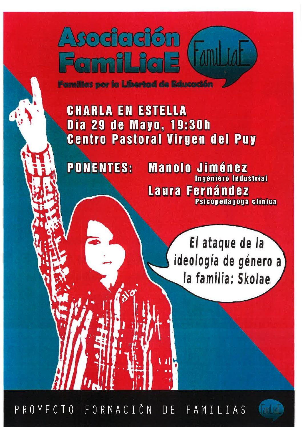 Charla informativa sobre SKOLAE. 29 de mayo. 19:30 H. Centro Parroquial Virgen del Puy de Estella