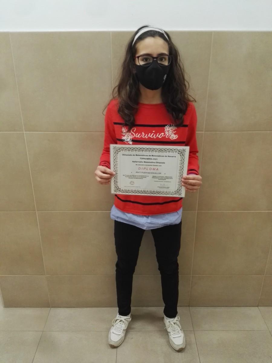 Irati Puertas Eguillor de 2º ESO participa en la XXXIV Olimpiada Matemática